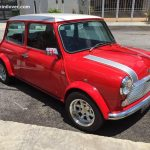 <b>Unique Red Mini Cooper With Silver Bonnet Stripes</b>